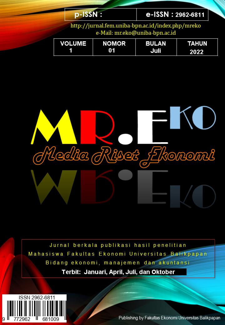 View Vol. 1 No. 1 (2019): MR.EKO [MEDIA RISET EKONOMI]